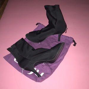 Burju Shoes Shabina Dance Booties w/ street soles